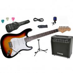 Set chitara electrica Santander ST-500 SUNBURST Hy-X-AMP Soundmaster45