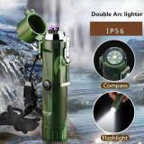 Bricheta electrica plasma cu lanterna rezistenta la apa