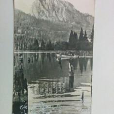 Carte poștală - Lacul Roșu, vedere spre Suhardul Mic (circulată, anul 1965)