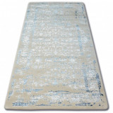 Covor acril Manyas 0920 albastru si fildeş, 160x230 cm