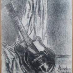 Natura statica cu chitara - semnat  Budae