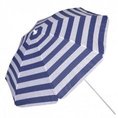 Umbrela plaja,1.80m, alb/albastru