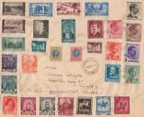 1939 Romania - Plic circulat cu francatura filatelica spectaculoasa, Regat Carol