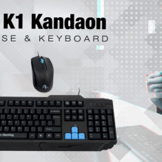 Kit Gaming Tastatura A+ K1 Kandaon + Mouse F1 Black Noua Sigilata L229