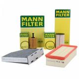 Pachet Filtre Aer+Polen+Ulei+Combustibil Mann Filter Audi, Seat, Skoda, Vw