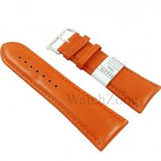 Curea ceas piele portocalie 10mm 12mm 14mm 16mm 18mm 20mm 22mm 24mm 26mm 28mm 30mm NAGATA WZ1604