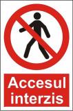 Indicator Accesul interzis(1) - Semn Protectia Muncii