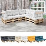 [en.casa]® Perna spate Paletten HTPC pentru mobilier paleti, 60 x 40 x 20/10 cm, poliuretan, alb HausGarden Leisure, [en.casa]