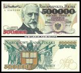 Polonia 500 000 zl 1993 UNC