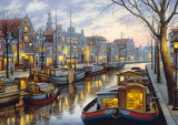 Puzzle Schmidt - 1000 de piese - Evgeny Lushpin : ALONG THE CANAL