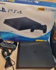 Consola Sony Playstation 4 (PS4) SLIM 500 GB Jet Black + 2 jocuri la alegere foto