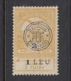 ROMANIA 1919 - CLUJ INUNDATIA 1LEU / 2 FILLER MNH, Nestampilat