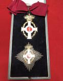 """Grecia - Set Mare Ofiter al Ordinului """"Regele George I"""" manufactura Spink Londra"""