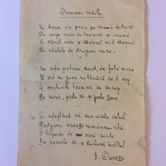 Manuscris poezie legionara DUMITRU CIUREZU -- CHEMAREA RODULUI (1 pagina)