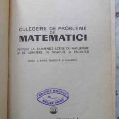 CULEGERE DE PROBLEME DE MATEMATICI - O. SACTER