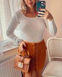 Pulover dama ieftin gros alb reiat model simplu