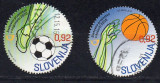 SLOVENIA 2010 Sport, Fotbal, Baschet, stampilat, uzat