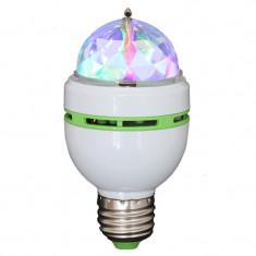 Bec cu Led-uri, soclu E27, RGB si cap rotativ