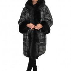 Jacheta din lana, nuanta de gri, captusita