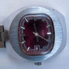 Ceas mecanic dama rusesc Luch + curea metalica argintie