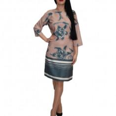 Rochie de zi,nuanta bleumarin, 42, 44, 46, 48