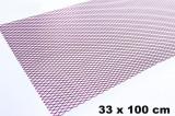 Plasa tuning inoxidabila rosie 100 mm x 33 mm