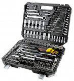 """Trusa tubulare si combinate, 150 piese, 1/4,3/8""""&1/2"""" 4-32mm CR-V TOPMASTER"""