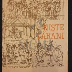 """PROGRAM """" TEATRU MIC """" NISTE TARANI , DE DINU SARARU, 1980"""