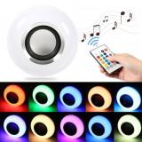 Cumpara ieftin Bec muzical inteligent cu LED bluetooth telecomanda lumini colorate, E27