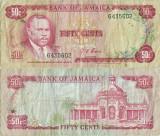 1970 , 50 cents ( P-53a.1 ) - Jamaica