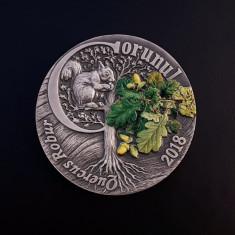 Medalie argint masiv - Gorunul - Fauna si flora Romaniei