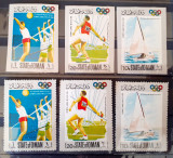 Oman 1968 Sport, Olimpiada Mexico 68, dant+nedant. 3v Mnh
