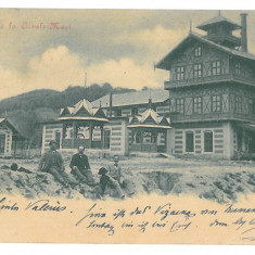 4093 - OCNELE MARI, Valcea, sediul minei de sare, Litho - old PC - used - 1901, Circulata, Printata