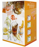 Set 18 pahare sticla QUADRATO, 011115