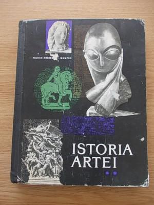 ISTORIA ARTEI- MARIN NICOLAU GOLFIN, VOL II, cartonata, r4a foto