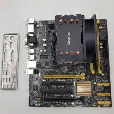KIT Placa de baza Asus Q87M-E, Intel Core i7 4770k 3.5GHz, Cooler Segotep...
