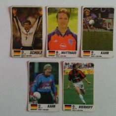 Lot 5 cartonașe fotbal - EURO 2000 - jucători din Germania (Bierhoff, Matthaus)