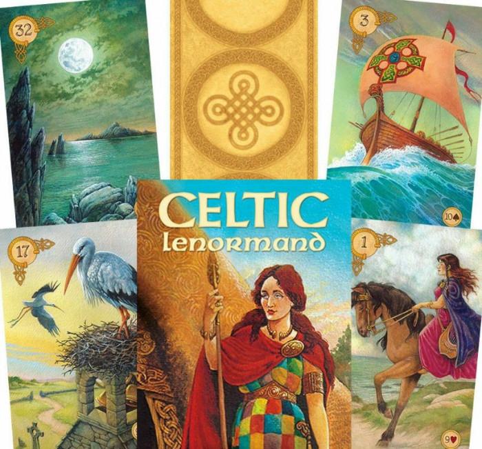 Carti tarot Celtic lenormand+cartea in limba romana+cadou set rune