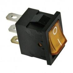 Intrerupator auto Carpoint 12V 15A Orange , comutator mini 13,00 x 18.90 m
