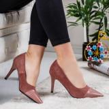 Pantofi Camelo roz cu toc - rl