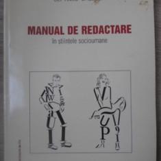 MANUAL DE REDACTARE IN STIINTELE SOCIOUMANE - SEPTIMIU CHELCEA