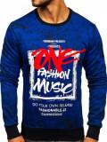 Bluză cu imprimeu bărbați albastru Bolf DD637