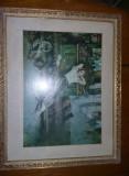 TABLOU VECHI,GRIGORESCU,FATA CU ZESTRE,Realizat de Cooperativa,vezi foto,T.GRAT