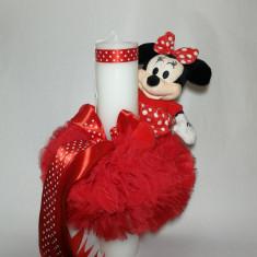 Lumanare pentru botez tip glob, ROSU 35X5 cm Disney - Minnie Mouse