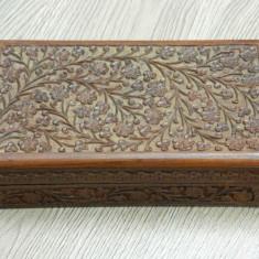Cutie din lemn de trandafir- cutie tigari etc. / realizata manual