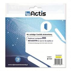 Cartus compatibil HP 655 Yellow, 12ml, Actis