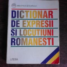 DICTIONAR DE EXPRESII SI LOCUTIUNI ROMANESTI