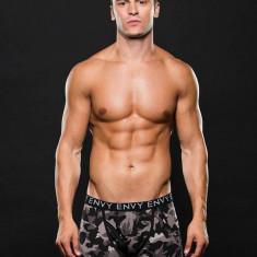 Boxeri barbati ENVY camuflaj M/L Gray Camo