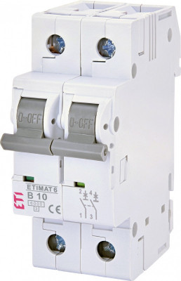Siguranta automata dubla ETIMAT 6 2p B10, curba B ETI foto