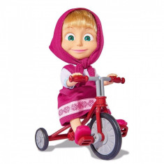 Papusa Masha si tricicleta Simba